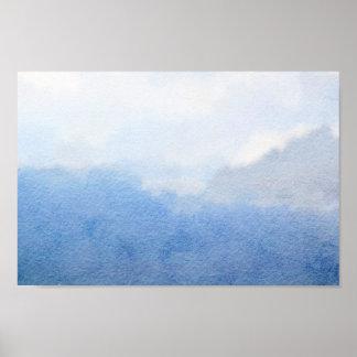 Poster Peinture d'aquarelle de ciel