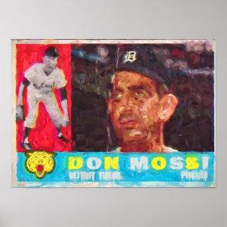 Poster Peinture de carte de base-ball des années 1960