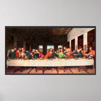 Poster Peinture du dernier dîner de Leonardo recréée