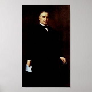 Poster Peinture du Président William McKinley
