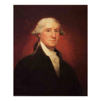 Poster Peinture vintage de portrait de George Washington