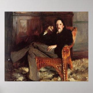 Poster Peinture vintage de Robert Louis Stevenson (1887)