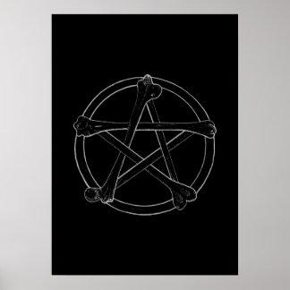 Poster Pentagramme d'os