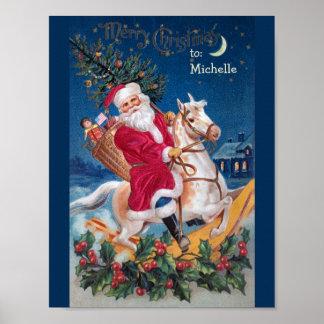 Poster Père Noël vintage sur l'affiche de valeur de