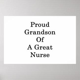 Poster Petit-fils fier d'une grande infirmière