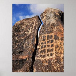 Poster Pétroglyphe antique