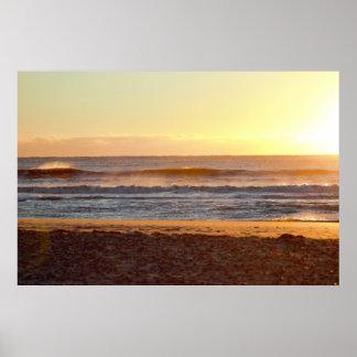 Poster Photo de lever de soleil de plage