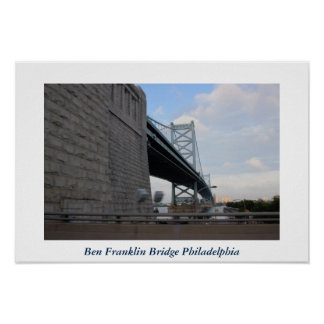 Poster Photo de Philadelphie de pont de Ben Franklin