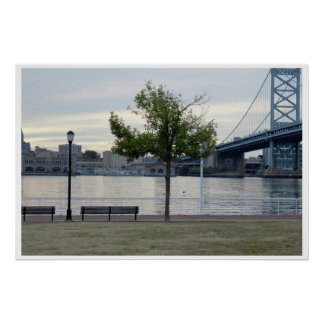Poster Photo de pont de Ben Franklin