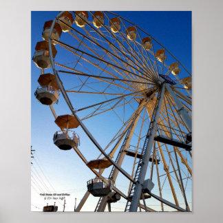 Poster Photo juste de tour de carnaval de Ferris d'état
