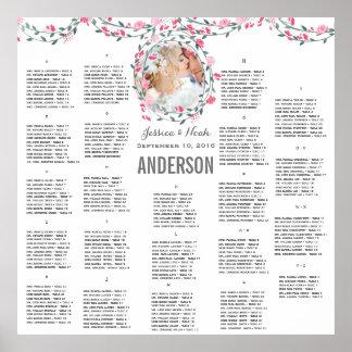 Poster Photo rose d'aquarelle de pivoine épousant