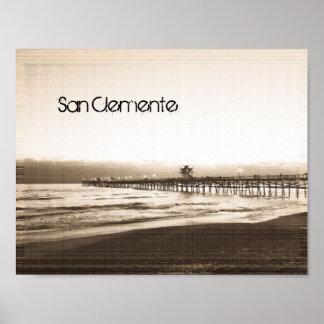 Poster Photo vintage de la Californie de pilier de San