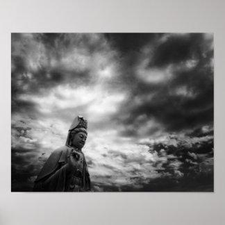 Poster Photographie de beaux-arts de statue de Kuan Yin
