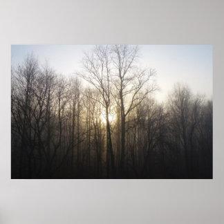 Poster Photographie de nature de lever de soleil de matin