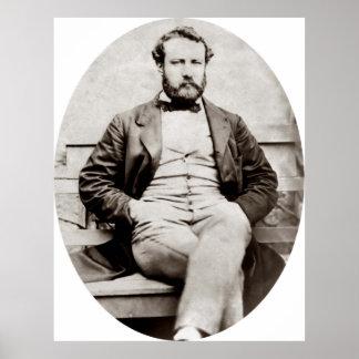 Poster Photographie vintage de portrait de Jules Verne