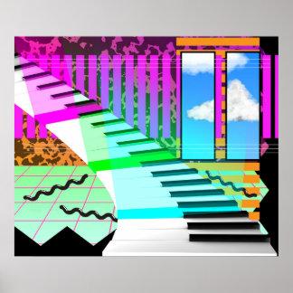 Poster Piano de nouvelle vague