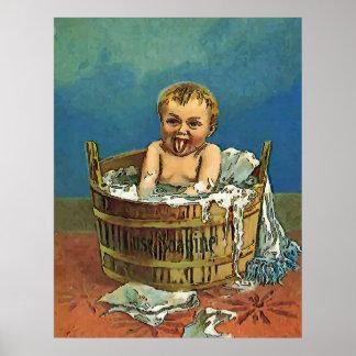 Poster Pièce de lavage de bébé