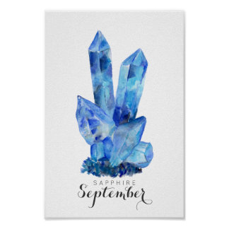 Poster Pierre porte-bonheur de septembre - affiche de