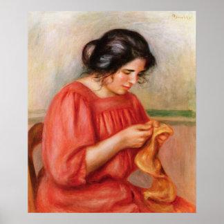 Poster Pierre raccommoder de Renoir | Gabrielle