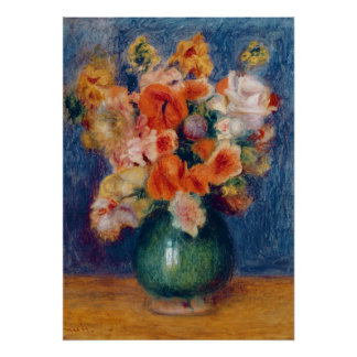 Poster Pierre un bouquet de Renoir  