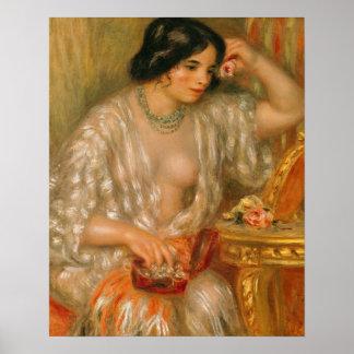 Poster Pierre un Renoir | Gabrielle avec des bijoux