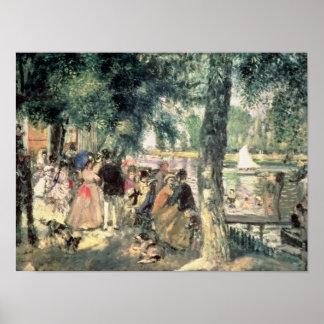 Poster Pierre un Renoir | se baignant sur la Seine