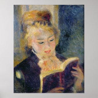 Poster Pierre une lecture de fille de Renoir  
