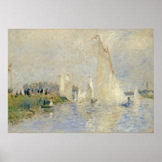 Poster Pierre une régate de Renoir   à Argenteuil