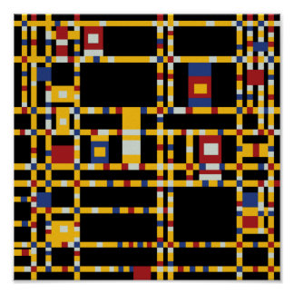 Poster Piet Mondrian - art moderne de Woogie de boogie de