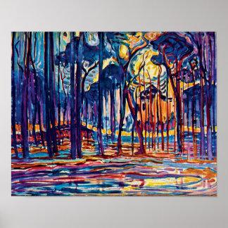 Poster Piet Mondrian - les bois s'approchent de la
