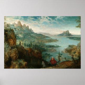 Poster Pieter Bruegel - aménagez en parc avec le vol en