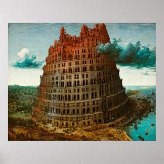 Poster PIETER BRUEGEL - La petite tour de Babel 1563