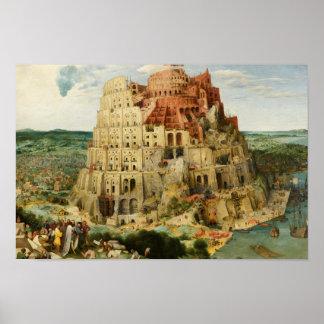 Poster Pieter Bruegel l'aîné - la tour de Babel