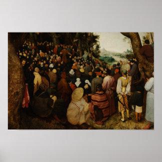 Poster Pieter Bruegel l'aîné - le sermon de St John