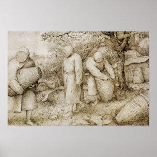 Poster Pieter Bruegel l'aîné - les apiculteurs