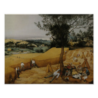 Poster Pieter Bruegel l'aîné - les moissonneuses