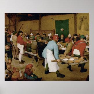 Poster Pieter Bruegel l'aîné - mariage rural
