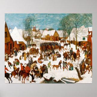Poster Pieter Bruegel l'Aîné-Massacre des innocents