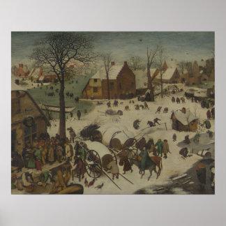 Poster Pieter Bruegel l'aîné - numérotation à Bethlehem