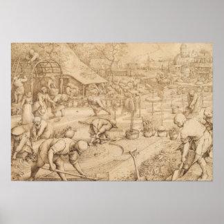 Poster Pieter Bruegel l'aîné - ressort