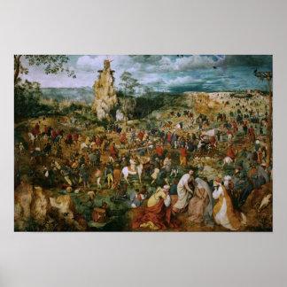 Poster Pieter Bruegel le cortège d'Aîné-Le vers le