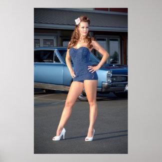 Poster Pin vintage coupable de maillot de bain de Pontiac