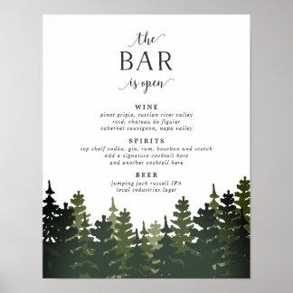 Poster Pins grands épousant le signe de menu de barre