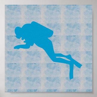 Poster PIQUÉ de BAIN de BALEINE de REQUIN graphique de