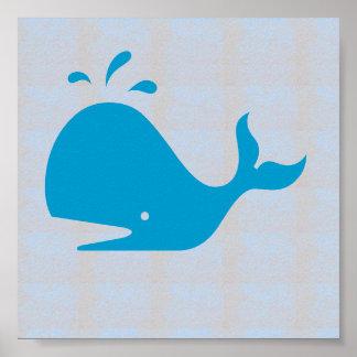 Poster PIQUÉ de POISSONS de BALEINE graphique de plage de