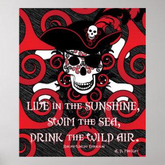 Poster Pirate en spirale celtique
