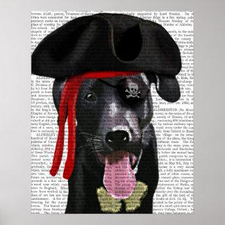 Poster Pirate noir de Labrador