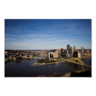 Poster Pittsburgh du centre, Pennsylvanie