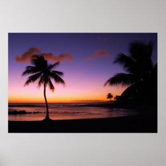 Poster Plage de Poipu - Kauai, Hawaï
