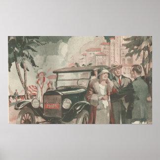 Poster PLAGE de publicité des années 1920